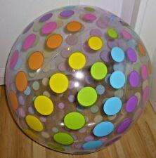 Grosser transparent gepunkteter WASSERBALL von Intex, D = 107cm / 42