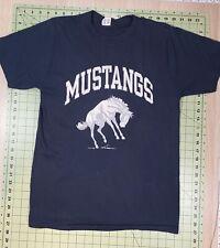 Vintage Mustangs Graphic T-Shirt Size L Dark Blue