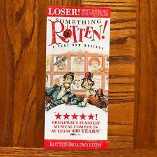 Something Rotten Broadway musical ad/flyer  Christian Borle