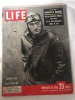 Life Magazine February 20, 1950 Gregory Peck Cover/Cinderella/Churchill/Fashion