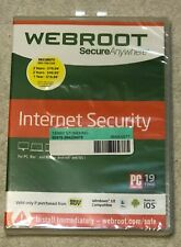 Webroot SecureAnywhere Internet Security w/ Antivirus - Windows 10 New Sealed