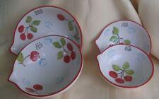 4 Piece Measuring cup set Hand Painted Porcelain Cherry Design - Pier I Imports