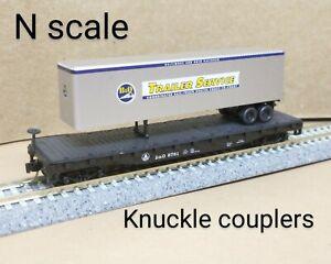Baltimore & Ohio B&O trailer flat car N scale Atlas MTL Micro Trains TOFC truck