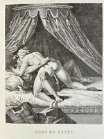 A. Carracci Erotik Penis Akt Vagina Mars Venus Antike Mythologie Rom Love Art