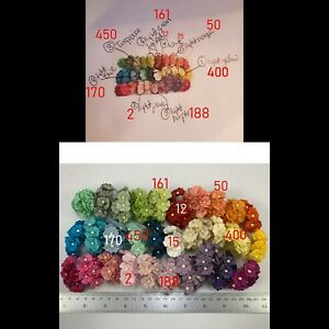 """3/4"""" or 2cm MIXED 9 Colors 900 Sweet Heart Cottage Flower (TH/S11-900 Custom A)"""