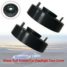 1Pair 80mm Black Soft Rubber Car SUV Headlight Dust Cover For LED HID Xenon Lamp