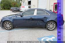 GTG 2008 - 2013 Cadillac CTS 4dr Sedan 6PC Chrome Stainless Steel Pillars Posts