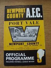 08/11/1968 NEWPORT COUNTY V PORT VALE, (scrivendo sul coperchio e lievi danni, TEAM C