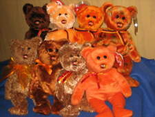 TY MASTERCARD BEARS 1 - 8 BEANIE BABY SET - ALL MINT with MINT TAGS
