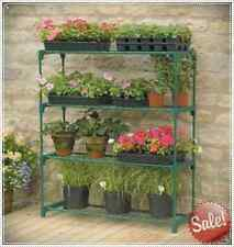 Greenhouse 4 Tier Staging Shelving Outdoor Stand Plant Flower Shelf Garden Shed