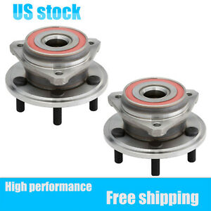 Pair(2) Front Wheel Hub & Bearing Assembly Left+Right For Jeep Cherokee Wrangler