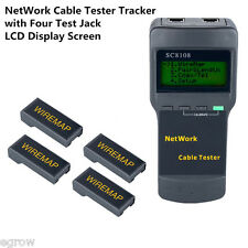 SC8108 Cat5 RJ45 Network Lan Cable Tester Wire Tracker 4 Far End Test Jack