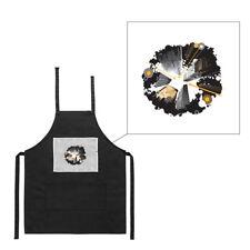 Tablier noir de cuisine barbecue gratte ciel electro imprimé