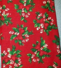 Stethoscope Cover - Candy Canes and Holly on red