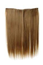 Haarteil breit Haarverlängerung 5 Clips glatt Blond Goldblond 45cm L30173-24B