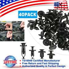 40pcs/set Car Push Pin Rivet Bumper Fender Retainer Fastener Mud Flaps Clip Kit