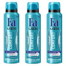 ( 22,11€/ L) 3x 150ml FA men DESODORANTE Comfort REFRESHING Caring 0% Aluminio