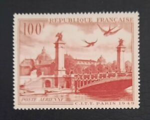 France 1949 Poste Aérienne n°28, Vue de Paris, NEUF** LUXE=9€