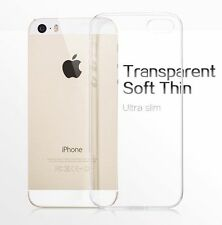 Clear Transparent Crystal Soft TPU Silicone Gel Cover Case For iPhone 5 5s AU