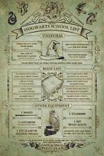 Harry Potter Hogwarts School List Poster 24x36 Inch Poster 36x24