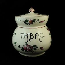 Pot à tabac Faïence LES ISLETTES KG LUNEVILLE STRASBOURG Décor floral 19ème