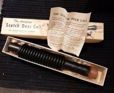 "Vintage The Amazing ""Scotch"" Deer Call No. 1809 In Original Box Rubber Nos"