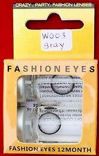 Movie Quality Contact Lenses Gray, Ohne Sehstärke   neu OVP + 1 Free Case