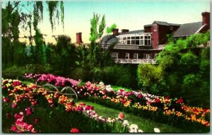 Luray, Virginia Postcard THE MISLYN HOTEL Garden View / Hand-Colored Albertype