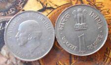 1964 - JAWAHARLAL NEHRU -  Rupee 1 - Nickel Commemorative india