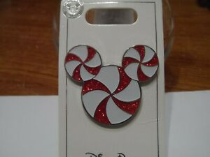 Candy Cane Mickey Mouse Icon Christmas Disney Trading Pin BRAND NEW!