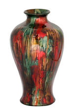"23"" Foiled & Lacquered Ceramic Floor Vase - Ceramic, Lacquered In Red, Brown ..."