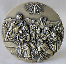 NATIVITY/ MAGI/ 2006 CHRISTMAS Large Bronze Medal by Jorge Coelho w/ Case / M64