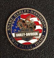 SNAKE HARLEY-DAVIDSON THOSE WHO SERVE CHALLENGE COIN