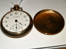 Filled Pocket Watch,17j,Railroad Dial #5458,Vintage 1912 Waltham 18s Gold