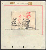 WALT DISNEY STUDIOS DUMBO STORYBOARD/CONCEPT DRAWING OF TIMOTHY MOUSE (1941) (B)