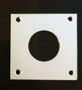 Bird Nest Box Aluminium 60mm  x  60mm  Protection Plate, 25,28 or 32 mm hole