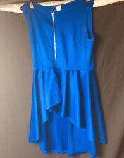Blush Womens Top 2X Peplum royal Blue sleeveless  JB44