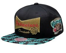 NEW MITCHELL AND NESS MEMPHIS GRIZZLIES X BUDWEISER SNAPBACK HAT 35$ MSRP