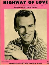 JOHNNY REBB - HIGHWAY OF LOVE -  VINTAGE SHEET MUSIC - AUSTRALIA