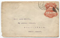 1876 Red Centennial Expo stamped envelope mailed from fair Philadelphia [1345]