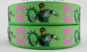 """Green lantern ribbon 1m long 1"""" wide"""