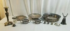 Antique Miscellaneous SILVER Plated Pieces Lot