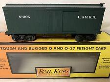 ✅MTH PREMIER US MILITARY RAILROAD 19th CENTURY 34' WOOD SIDE BOX CAR! ARMY TRAIN