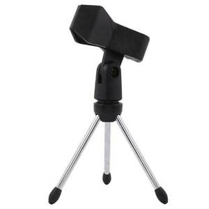 Foldable Desktop Tripod Mic Stand Foldable Table Tops Microphone Mount Holder SG