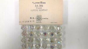 6 swarovski vintage large crystal beads,18mm crystal AB #346