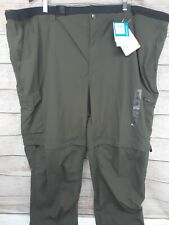 Columbia BIG /& TALL Men/'s Silver Ridge Convertible Pant Peat Moss 50x34