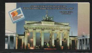 Latvia 523 2001 Purvitis paintings Berliner 2001 stamp booklet mint NH