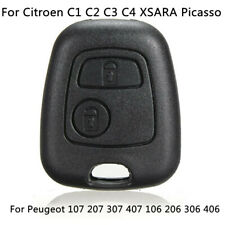 Remote Key Fob Case Shell For Citroen PICASSO Peugeot 107 207 307 407 106 206 ^