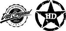 2 x Army Stern mit Harley  Aufkleber viele Farben Größe 10cm x 10cm ANSEHEN
