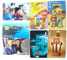 TELECARTE LOT DE 7 CARTES DE TELEPHONE POUR CABINES PUBLIQUES